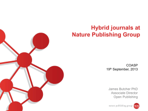 Nature Communications and Scientific Reports: an update