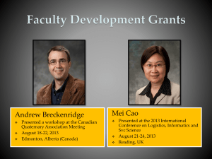Faculty Development Grants