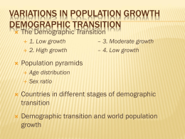 Chapter 2, Key Issue 3 - Demographic Transition
