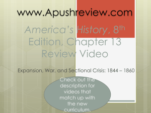 America`s History Chapter 13