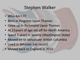 Stephen Walker - WALKERDesigns