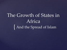 African States and Islam PPT - Phillipsburg School District