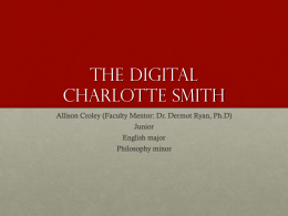 The Digital Charlotte Smith