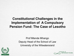 Sechele v Public Officers Defined Contribution Pension Fund