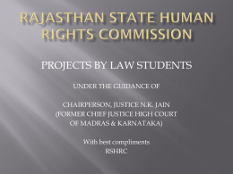 7. human trafficking - Rajasthan State Human Rights Commission