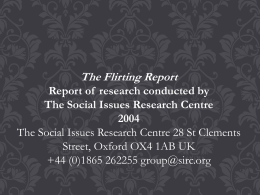 The Flirting Report