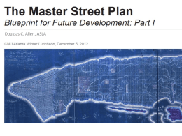Part 1 – History - The Master Street Plan