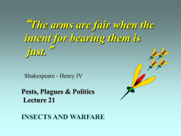 Lecture 21 - Insect Militarism