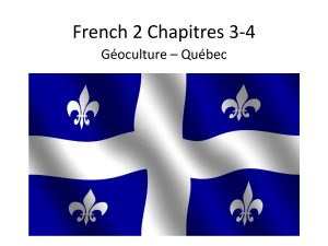 French 1 Chapitres 3-4