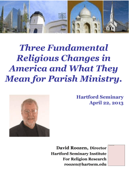 Three Fundamental Religious Changes in America