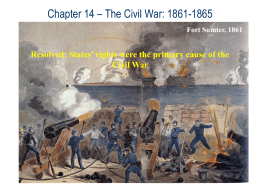 Chap14-CivilWar - AP US Government & Politics