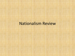 Nationalism Review PowerPoint