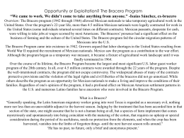 The Bracero Program