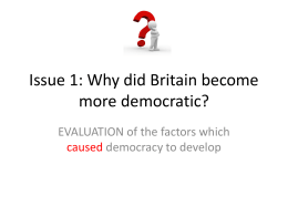 3. Why did democracy grow