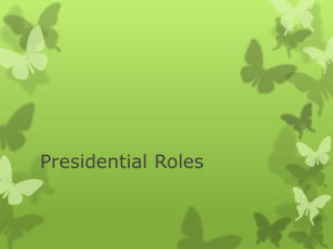 Presidential Roles - RHS Encore Academy