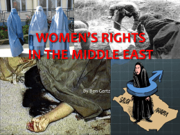 WOMEN`S RIGHTS middle east Ben Gertz