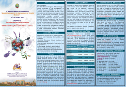 Brochure - The Indian Society for Parasitology