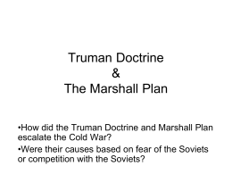 Trumam Doc Marshall Plan PPT