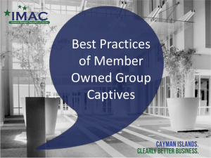 Group Captive Best Practices presentation files