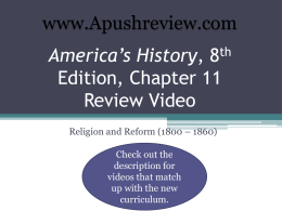 America`s History Chapter 11