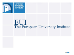 Sector of Employment - European University Institute