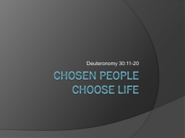 Chosen People Choose Life