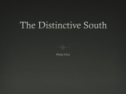 The Distinctive South
