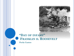 *Day of infamy* by fdr - AP English Language and Composition
