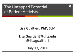 Patient Activists - Home | Tufts University School of Medicine Public