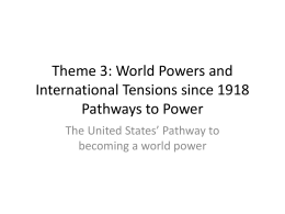 US Pathway to Power part 1