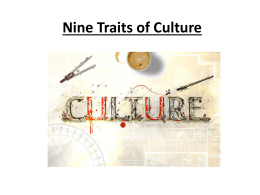 Nine Traits of Culture