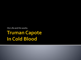 Dissertation capote in cold blood