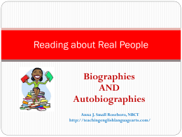 Reading about Real People - teachingenglishlanguagearts.com