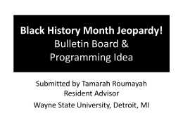 Black History Month Jeopardy! Bulletin Board