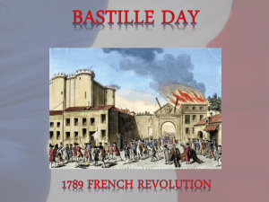 BASTILLE DAY The Death of King Louis XVI