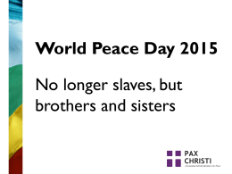 Peace Day 2015 Assembly PowerPoint