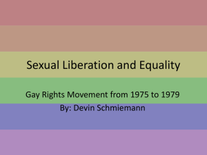 Sexual Liberation and Equality - 20th-century