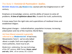 THE BODY V - FEMINIST & POSTMODERN BODIES