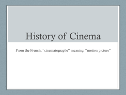 Early Cinema PPT