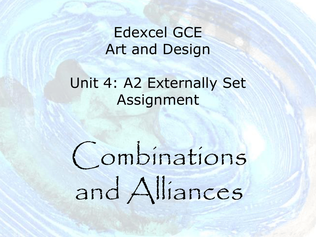 Edexcel Art And Design