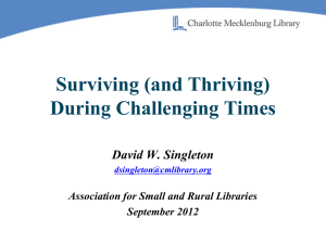 Surviving (and Thriving) - ARSL | Association for Rural & Small