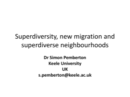 New migration and superdiverse neighbourhoods