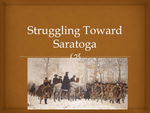 Struggling Toward Saratoga -Fab