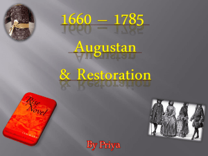Augustan and Restoration