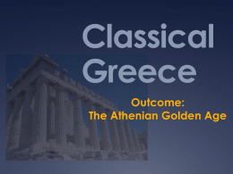 The Athenian Golden Age - socialstudiesSOLreview