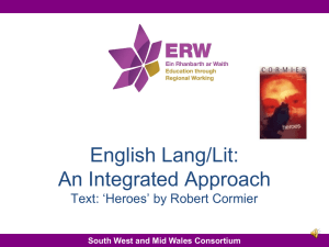 English Lang/Lit: An Integrated Approach