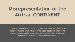 Misrepresentation of the African CONTINENT