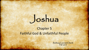 Book of Joshua PowerPoint Chapter 5