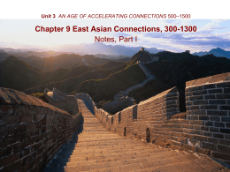 WHAP * Duez Unit 3 AN AGE OF ACCELERATING CONNECTIONS