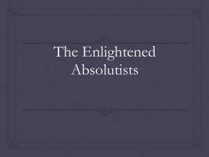 PowerPoint - Enlightened Absolutism